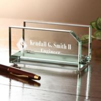 Executive Personalized Business Card Holder