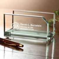 The Law Office Engraved Business Card Holder