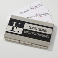 Sophisticated Style Personalized Business Card Case