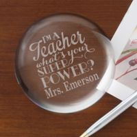 Teacher Quotes Personalized Crystal Paperweight