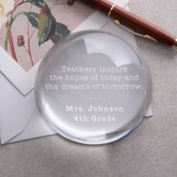 Inspirational Quotes Teacher Personalized Paperweight