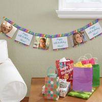 Photo Party Stripe Personalized Paper Banner