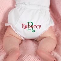 Fancy Pants Embroidered Diaper Cover in Holiday Print