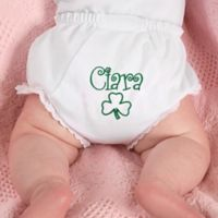 Fancy Pants Embroidered Diaper Cover in Irish Print