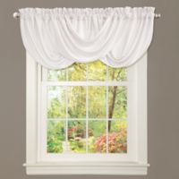 Lucia Draped Rod Pocket Window Valance in White