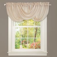 Lucia Draped Rod Pocket Window Valance in Ivory