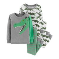 carter's® Size 4T 4-Piece Alligator Snug-Fit Cotton Pajama Set in Green