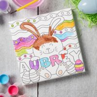 Easter Bunny Personalized Coloring Canvas Print