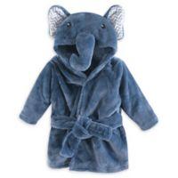 Little Treasures Chevron Elephant Plush Bathrobe in Blue