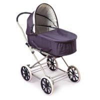 Badger Basket Just Like Mommy 3-in-1 Doll Pram in Navy/White