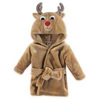 Hudson Baby® Size 0-9M Reindeer Bathrobe in Brown