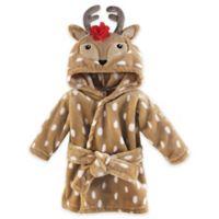 Hudson Baby® Size 0-9M Polka Dot Reindeer Bathrobe in Brown