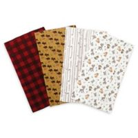 Trend Lab® 4-Pack Northwoods Flannel Burp Cloth Set