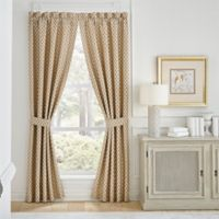Croscill® Philomena 95-Inch Rod Pocket Window Curtain Panel Pair in Beige