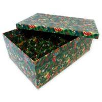 2-Tier 40-Ornament Christmas Ornament Storage Box in Green