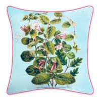 The New York Botanical Garden Leafy Floral Indoor/Outdoor Square Throw Pillow
