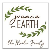 """Designs Direct """"Peace on Earth"""" 20-Inch Square Canvas Wall Art"""