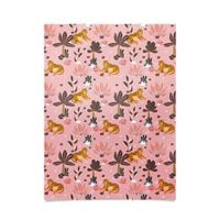 Deny Designs Hello Sayang Tyger Poster in Pink