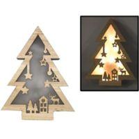 LED Holiday Scene Christmas Tree Wall Art