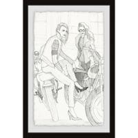 Parvez Taj Bike and Heels 12-Inch x 18-Inch Framed Wall Art