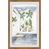 Parvez Taj Lounge by the Pool 12-Inch x 18-Inch Framed Wall Art
