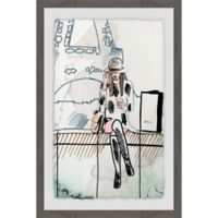 Parvez Taj Chillin' at Paris 12-Inch x 18-Inch Framed Wall Art