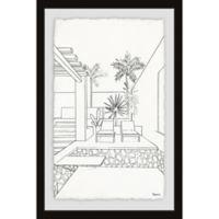 Parvez Taj Swim and Relax 20-Inch x 30-Inch Framed Wall Art