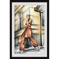 Parvez Taj Corner Street Fashion 12-Inch x 18-Inch Framed Wall Art