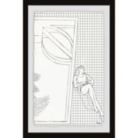 Parvez Taj Sleep and Bathe Stripes 12-Inch x 18-Inch Framed Wall Art