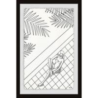 Parvez Taj Palms and Calm 30-Inch x 45-Inch Framed Wall Art