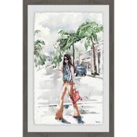 Parvez Taj Summer Casual 12-Inch x 18-Inch Framed Wall Art