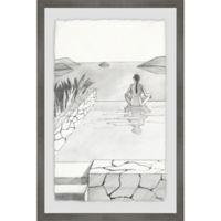 Parvez Taj Infinity View 16-Inch x 24-Inch Framed Wall Art