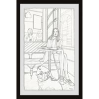 Parvez Taj Chill with the Pup 16-Inch x 24-Inch Framed Wall Art