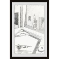 Parvez Taj Float and Relax 24-Inch x 36-Inch Framed Wall Art