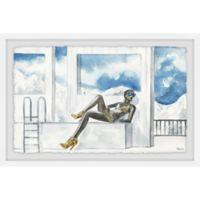 Parvez Taj Yellow Is Summer 24-Inch x 16-Inch Framed Wall Art