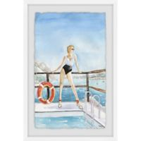 Parvez Taj Sail on the Sea 16-Inch x 24-Inch Framed Wall Art