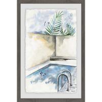 Parvez Taj Enjoy the Calmness 12-Inch x 18-Inch Framed Wall Art