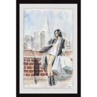 Parvez Taj Shopaholic's Madness 20-Inch x 30-Inch Framed Wall Art