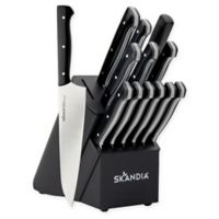 Skandia Aldis 14-Piece Knife Block Set in Black