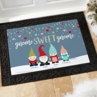 Gnome Family Personalized 18-Inch x 27-Inch Doormat