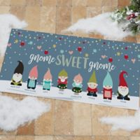 Gnome Family Personalized 24-Inch x 48-Inch Oversized Doormat