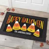 Candy Corn Family Personalized 20-Inch x 35-Inch Doormat