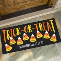 Candy Corn Family 24-Inch x 48-Inch Oversized Doormat