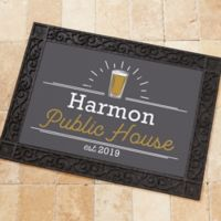 Public House 18-Inch x 27-Inch Personalized Doormat