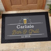 Public House 20-Inch x 35-Inch Personalized Doormat