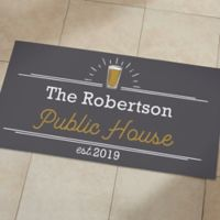 Public House 24-Inch x 48-Inch Personalized Oversized Doormat
