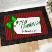 Gift Tag Personalized 18-Inch x 27-Inch Doormat