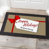 Gift Tag Personalized 20-Inch x 35-Inch Doormat