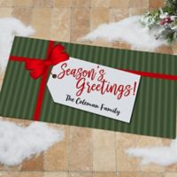 Gift Tag Personalized 24-Inch x 48-Inch Doormat