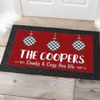 Farmhouse Christmas Personalized 20-Inch x 35-Inch Doormat